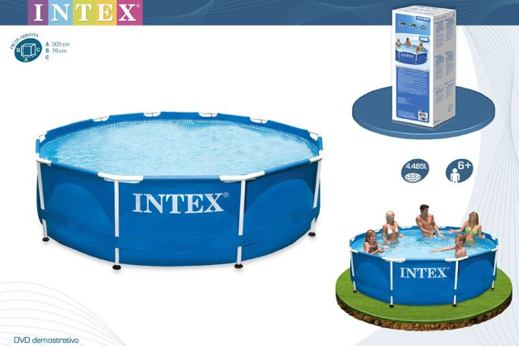 Каркасный бассейн 305х76см, Metal Frame Pool intex 28200